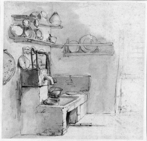 Keuken met pomp en wasbak