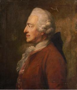 Portret van Johann Georg Freesen (1701-1777)