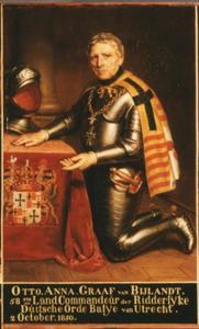 Portret van Otto Anna graaf van Bylandt
