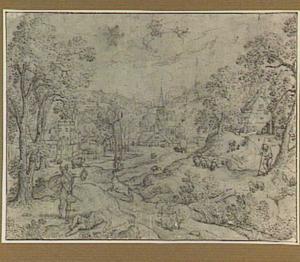 Landschap met Mercurius die Argus doodt, Io die vlucht in de gedaante van een koe en Juno die de ogen op de staart van de pauw aanbrengt (Metamorfosen 1:668-721)