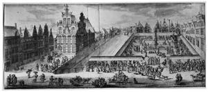 De Oude Vismarkt en het gildenhuis van de zoutvisverkopers te Brussel