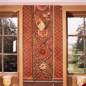 Kandelaber en gestileerde pilasters