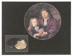 Dubbelportret van Isaac Pontanus (....-1710) en zijn kleinzoon Hendrik van Beek (1680-....)