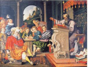Lezing in een academie voor de adel (Rhetorica)