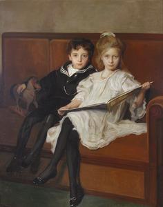 Portret van Henriette Cornelia van den Honert (1897-1984) en Taco Hajo van den Honert (1899-1959)