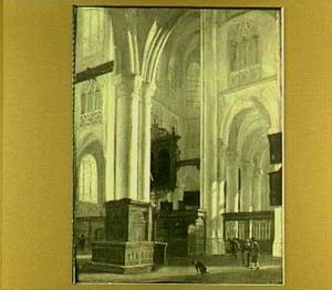 Interieur van de St.-Gertrudiskerk te Bergen op Zoom