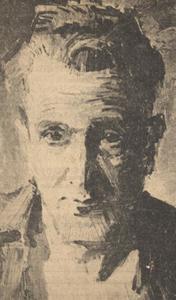 Portret van Johannes Bernardus Maria Rafael Hanlo (1912-1969)
