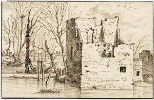 Ruïne van kasteel Velp bij Grave
