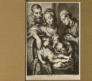Heilige familie met Elizabeth en Johannes de doper als kind