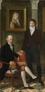 Portret van François Wynckelman (1762-1844), Franciscus Joseph Octave van den Donckt (1757-1813) en Joseph Denis Odevaere (1775-1830)