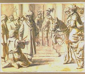 Koning Joram ontvangt brieven van de profeet Elia die daarin zijn straf vooruitzegt (?) (2 Kronieken 21:12)