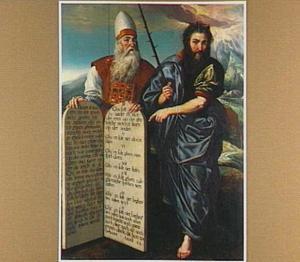 Mozes en Aäron met de Tafelen der Wet