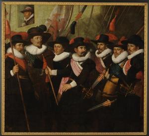 Zeven officieren van het vendel van Kapitein Johan van Banchem in 1626