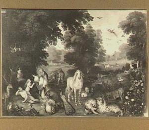 Schepping van Adam en Eva in het Paradijs