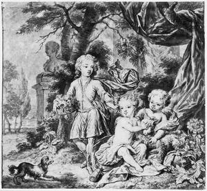 Portret van de kinderen van Cornelis van Aerssen (1698-1766) en  Anna Albertina van Beyeren van Schagen (1699-1762)