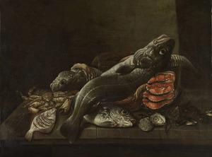 Stilleven met vis en schaaldieren