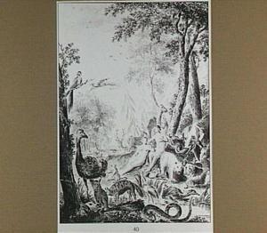 Adam en Eva in het paradijs voor de zondeval (Genesis 2)