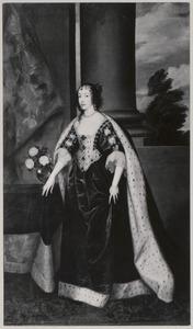 Portret van Henriëtta Maria de Bourbon (1609-1669), koningin van Egeland