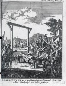 De executie van Georg Petersson, de gunsteling van koning Erik  XIV van Zweden