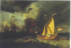 De vloot van Michiel Adriaensz. de Ruyter vaart uit