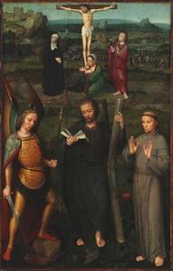 Kruisiging met heiligen