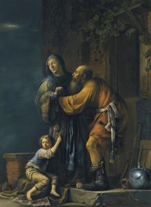 Abraham pleit tevergeefs voor Hagar bij Sara  (Genesi 21:9-11)