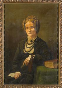Portret van Marie Isabelle Francoise van der Bank (1819-1882)