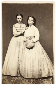 Dubbelportret met Elisabeth Catharina Maria Schuller tot Peursum (1848-1911)
