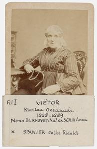 Portret van Klazina Geertruida Vietor (1808-1889)