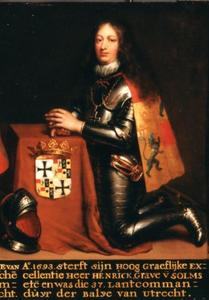 Portret van Hendrik Trajectinus zu Solms-Braunfels (1636-1693
