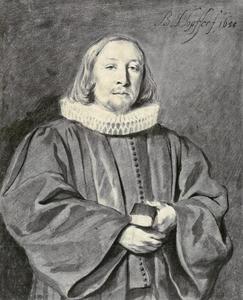 Portret van Christoff Ehinger (1622-1692), predikant te Augsburg