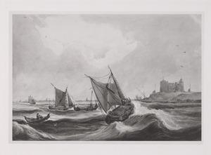 Hollandse schepen op de rede bij Vlissingen