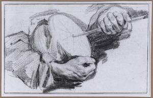Handen van een rommelpotspeler