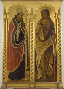 De heiligen Johannes de Doper en Benedictus