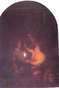 Debutade tekent bij kaarslicht het portret van haar geliefde, ofwel de uitvinding van de tekenkunst