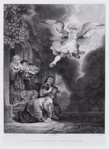 L'ange Raphael quittant Tobie et sa famille