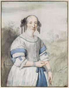 Portret van een vrouw, waarschijnlijk Johanna de la Court (1622-1678)