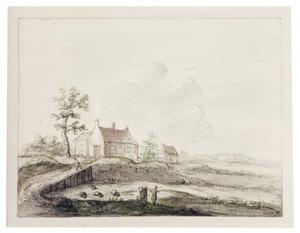 Huizen in een landschap