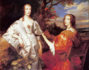 Dubbelportret van Katherine Wotton, Lady Stanhope, Countess of Chesterfield (1609-1667) en Lucy Davis, Lady Hastings, Countess of Huntingdon (1613-1679)