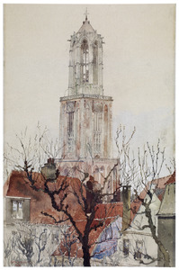 Gezicht op de Domtoren in Utrecht