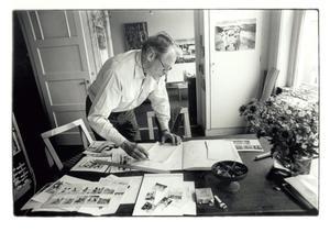 Jan Bons aan het werk
