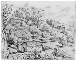 Gezicht op Italiaans dorp