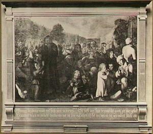 De spijziging der verloste Leidenaren op 3 oktober 1574  (de uitdeling van haring en wittebrood)