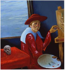 Zelfportret van Philip Maria Akkerman (1957- )