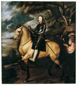 Ruiterportret van Charles I Stuart (1600-1649), met zijn bediende Sir Thomas Morton (?-?)