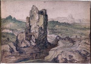 Uitgestrekt landschap met rotsen