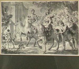 Triomftocht van een Romeins veldheer en zijn vrouw