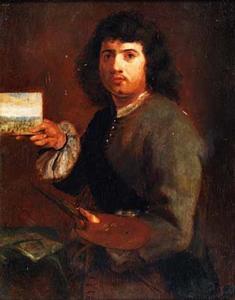 Het Gezicht: een schilder die een schilderijtje laat zien