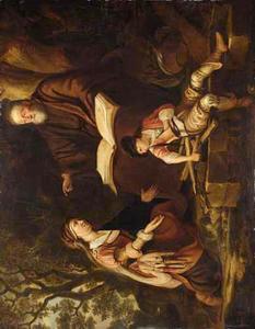 Hannah draagt Samuel over aan Eli (1 Samuel 1:26)