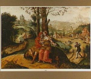 Tamar verleidt Juda, gekleed als deerne, langs de kant van de weg  (Genesis 38:14-18)